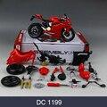 ДМГ 1199 696 Мотоциклов Модель Строительство Комплекты 1/12 Сборки Игрушки дети Подарок Мини Moto Diy Diecast Модели Игрушки Для Подарка коллекция