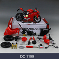 DMH 1199 696 Motorcycle Model Building Kits 1/12 Assembly Toy Kids Gift Mini Moto Diy Diecast Models Toy For Gift Collection
