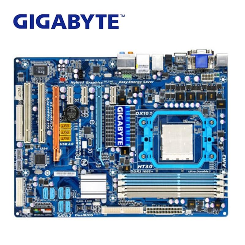 Gigabyte Motherboard Ddr3 Socket-Am3 Desktop AMD GA-MA785GT-UD3H 16GB Used For Ma785gt/Ud3h/Ma785gt-ud3h/..