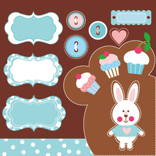 Animal cartoon rabbit Metal Steel Die Cuts Cutting Dies stencils For DIY Scrapbooking Photo Album decor crafts Embossing