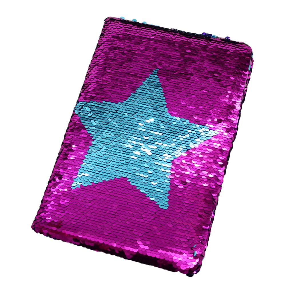 Double-sided Sequins Notebook Pentagram Shape Popular Gift School Supplies Diary Notes Students Stationery