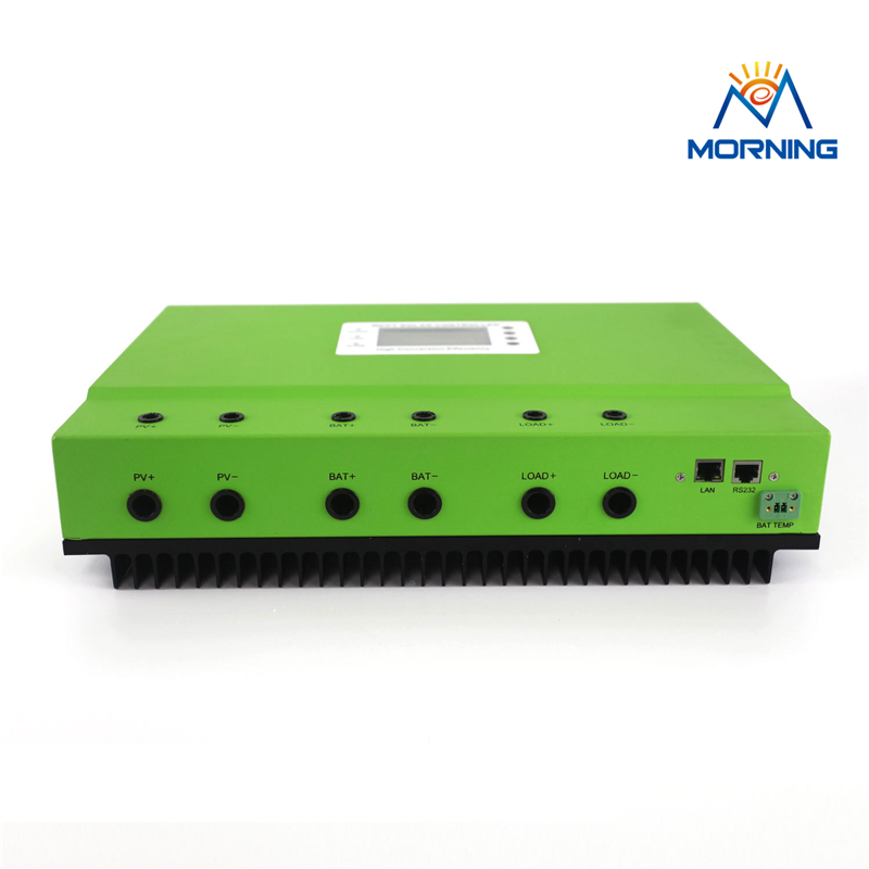 Master-B MPPT 40A 50A 80A DC 48V 96V solar system charge controller with RS232 /LAN or RS485/LAN self-cooling heatbarrier