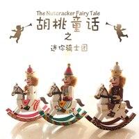 Nieuwe 15 Cm Hoge Kerstvakantie Notenkraker Hout Paard Vintage Duitse Houten Tafel Walnoot Speelgoed Zakka Poppen