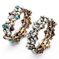 Новый романтический дизайнер бижутерии красочные кристалл упругие браслеты и браслеты для женщин