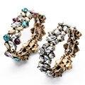 New Romantic Bijoux diseñador colorido cristal pulseras y brazaletes elásticos para mujeres