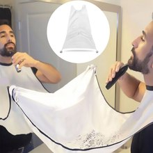 Waterproof Trimming Catcher Beard Wrap Umbrella Razor Blade Adult Overall Catch Cape Hair Scarf Cloth White
