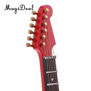 Image 5 - MagiDeal 1/6 Scale Wood Electric Guitar Model for 12 Inch Action Figure Accessory Kids Toys