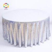 FANCAI Sequins Round Tablecloth 100% Polyester Party Tablecloth Kitchen Table Cover