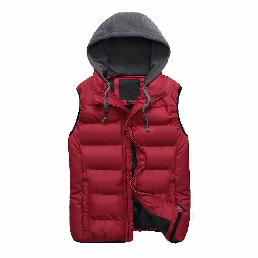 Mountainskin 4XL Mens Vests Hooded Sleeveless Jackets Winter Men Women Warm Autumn Slim Fit Vest Male Brand Outerwears LA534
