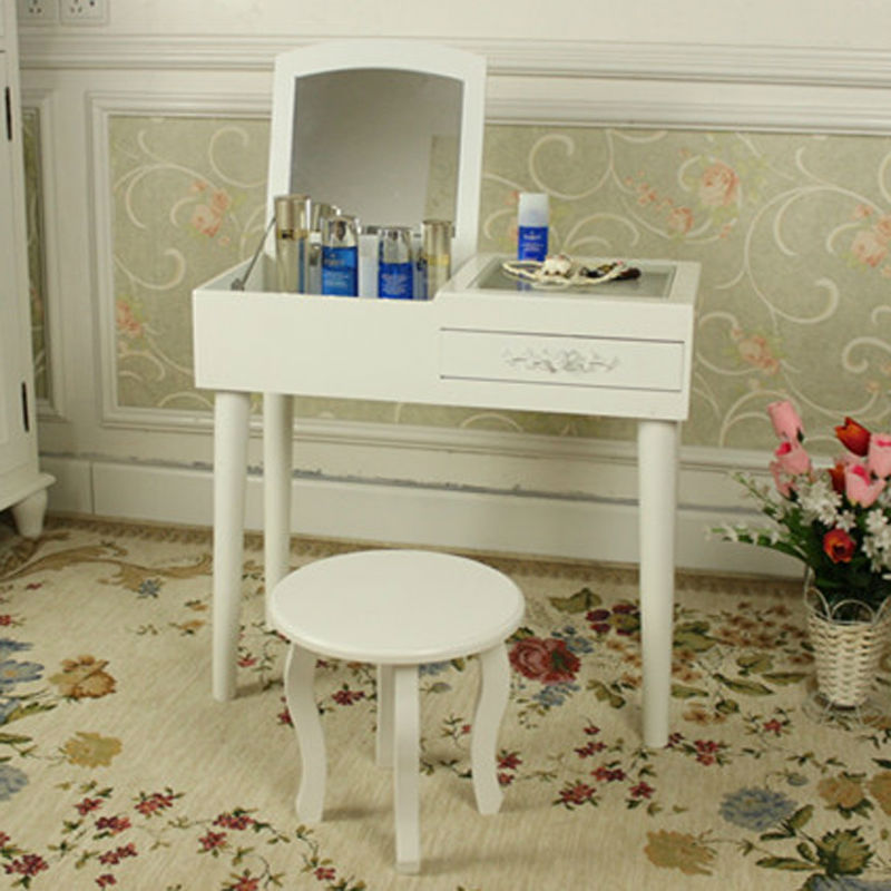 Nice Modern Mini Dressing Table Mirrored Dresser Makeup Vanity Table For Bedroom Small  Makeup Desk Home Furniture In Dressers From Furniture On Aliexpress.com ...