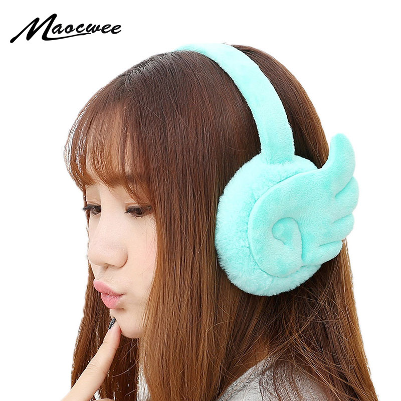 Wings Earmuffs Warm Korean Version Of The New Female Cute Cartoon Plush Earrings Imitation Rabbit Ear Womens Winter Ear Muff