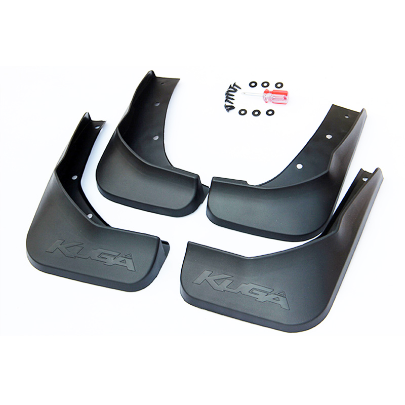 Free Shipping High Quality ABS Plastics Automobile Fender Mudguards Mud Flaps For 2013-2017 Ford Kuga 2 Escape