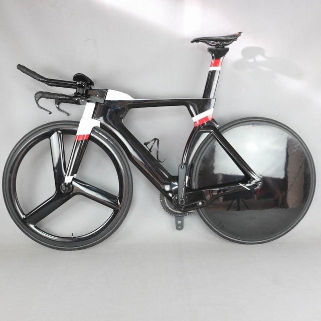 SERAPH complet TT bike 700C contre la montre Triathlon t800 plein cadre en fibre de carbone noir en utilisant des freins TRP FM-TT01
