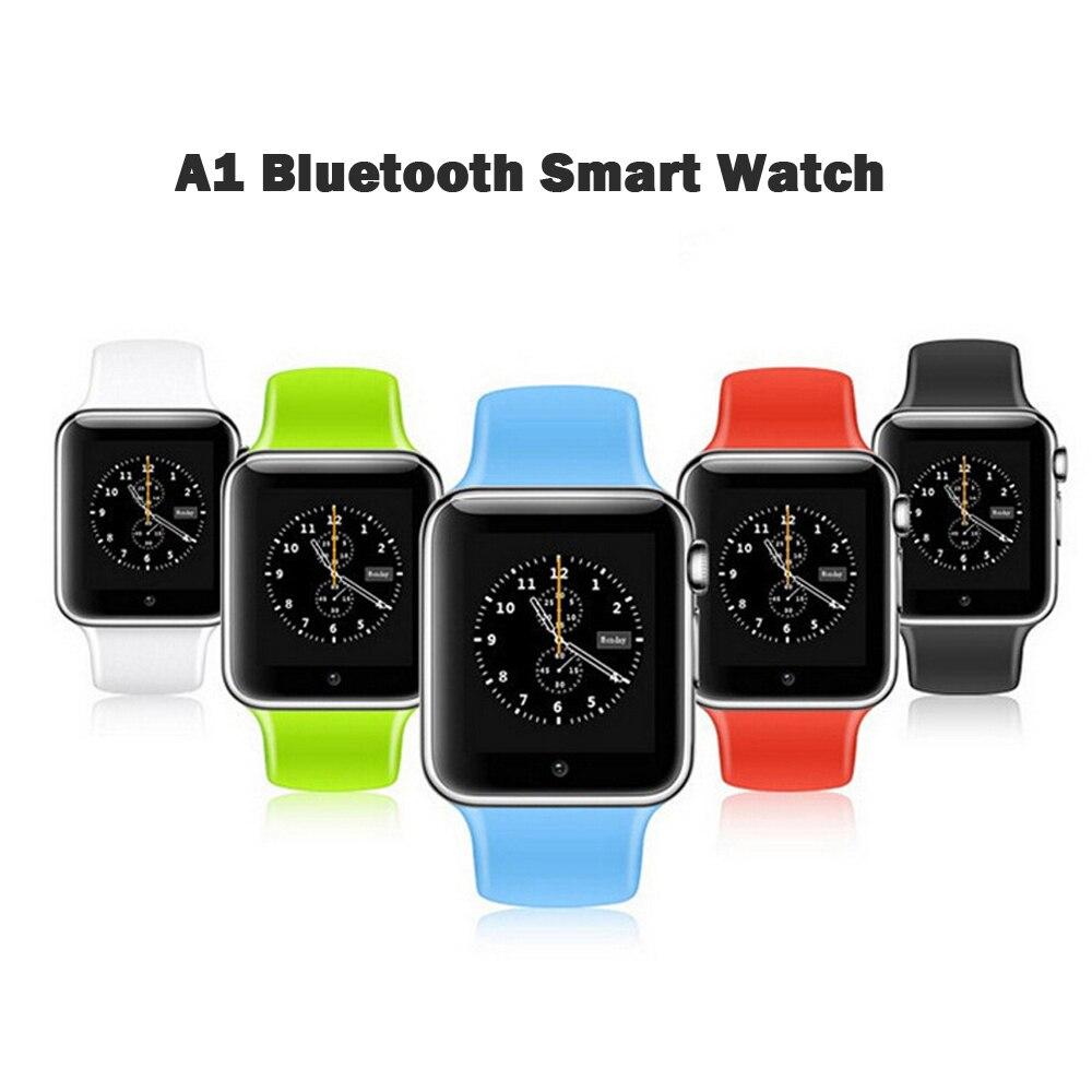 A1 reloj inteligente Altavoz Bluetooth inalámbrico reloj podómetro con SIM TF ranura para tarjeta de la cámara para Android IOS Rusia T15 mp3