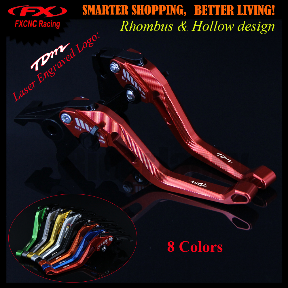 3D design (Rhombus Hollow) Red CNC Motorcycle Adjustable Brake Clutch Lever For Yamaha TDM 850 TDM850 1991-2002 1999 2000 2001