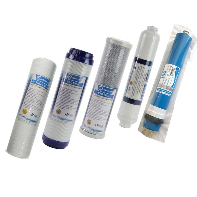 5 mikron PPF + granulowanego węgla aktywowanego + CTO + RO + T33/(HID 75/100GPD RO) filtr wody smak/zapach filtr węglowy do 5 etap oczyszczania wody odwróconej osmozy