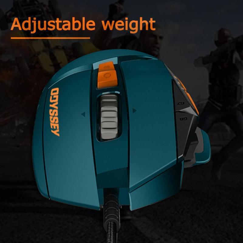 Игровая мышь logitech G502 Hero, 11 кнопок, RGM 16000 dpi, геймерская проводная мышь, регулируемая по весу мышь для PUBG/LOL - 4