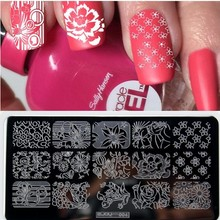 1 Nail Template Plates Nail Art Stamping Printing Tool Flowers Design Stamp Image Transfer Manicure #ZJOY004 недорого
