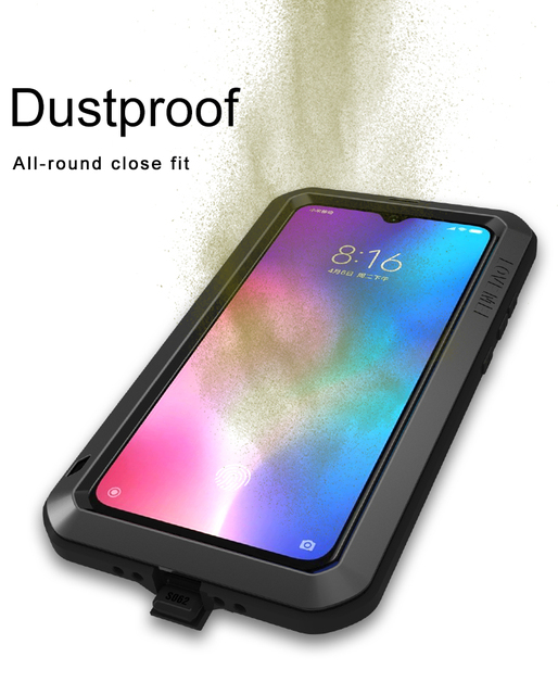 Shock and Dirt Proof Water Resistant Metal Case for Phones