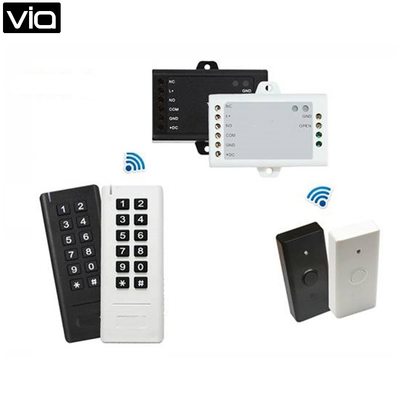RFSK3 Free Shipping Wireless RFID Keypad, 500 Card User High Security Access Control System Rolling Code Easy Installation wireless smoke fire detector for wireless for touch keypad panel wifi gsm home security burglar voice alarm system
