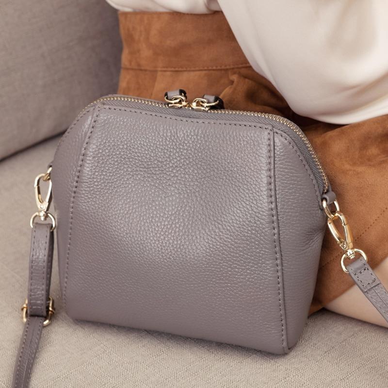 Genuine Leather Shoulder Bags For Women Luxury Handbag Fashion Ladies Shopping Totes Messenger Crossbody Bag Female Party Purse