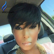 Short Lace Wig With Bangs 8a Virgin Full Lace Short Human Hair Bob Wigs For Black Women Full Lace Wig None Lace Wigs Human Hair