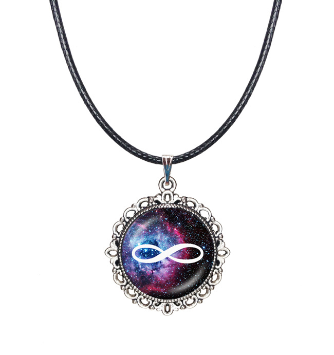 Buy Glass cabochon necklace infinity necklace galaxy nebula jewellery tattoo choker necklace star cluster jewelry choker necklace for $2.54 in AliExpress store