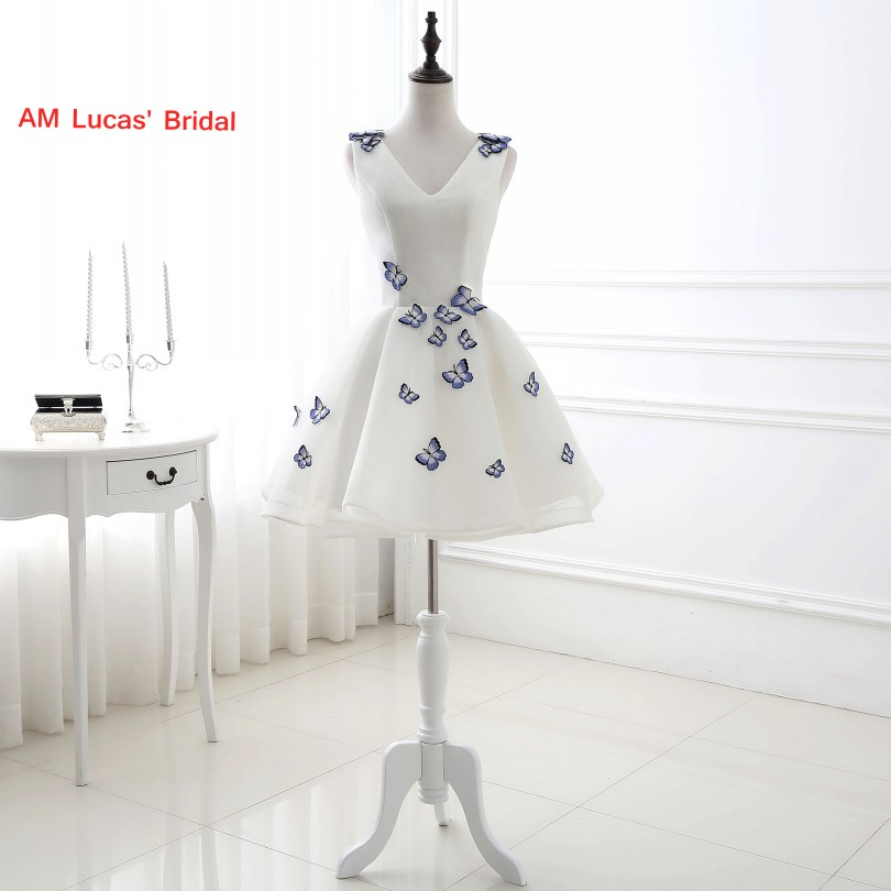New Design Elegant   Cocktail     Dress   V Neck About Knee Evening Party Gowns Short   Dresses   Vestido De Festa Curto