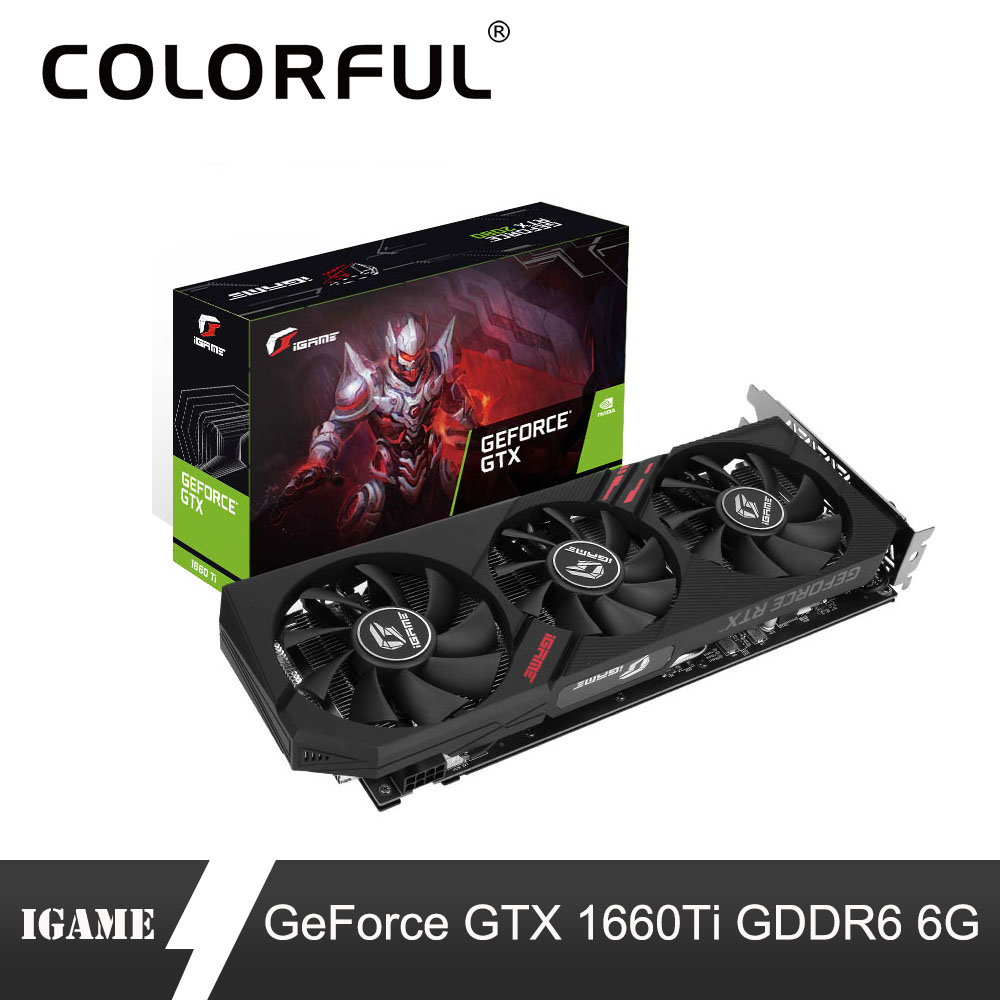 Colorful Video-Card GPU Igame Ultra-Graphic-Card GDDR6 Geforce Gtx 1660 Ti 6G Fan Nvidia title=