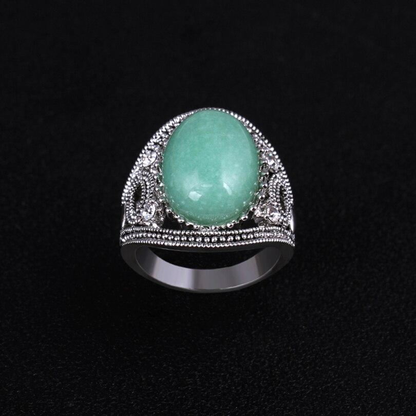 BIAOGE vintage couple wedding rings Men female blue onyx fashion jewelry charm classic green stone women/men Rings(AKA0052-1)