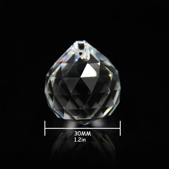 10pcs 30mm Chandelier Balls Cut-faceted Crystal Clear For Hanging Lamp&lighting Part Home
