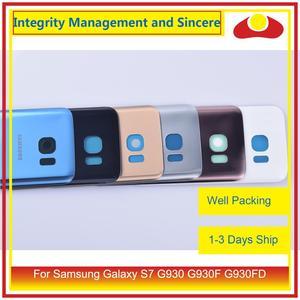 Image 2 - 50 шт./лот для Samsung Galaxy S7 G930 G930F G930FD SM G390F корпус батарейного отсека задняя стеклянная крышка корпус