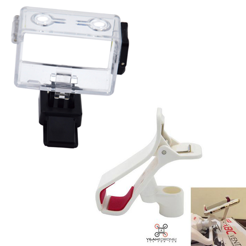 Gopro Mount for x8c syma x8c and Mobile Phone Monitor Holder for Syma X8C X8W X8G