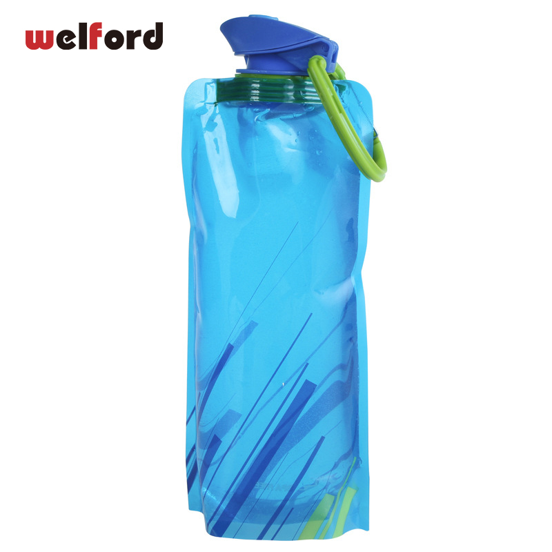 700mL Reusable  Sports Water Bottle with lock and lid Travel Portable Collapsible Folding Drink Kettle Outdoor BPA free