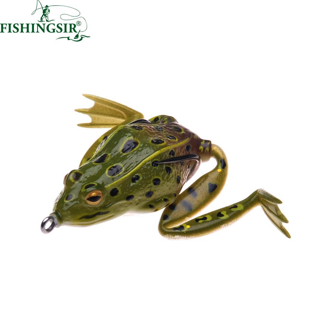 Topwater Frog Fishing Lure Silicon Soft Bait Freshwater Saltwater Bass Swimbait 55mm 16g 1set 10pcs soft silicone fishing lure bait freshwater saltwater