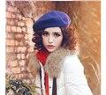 32 colores venta caliente de moda señora women mezcla de lana Beret Beanie invierno de esquí sombrero de regalos artista Cap wholesale