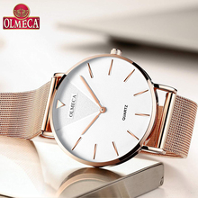 Top Brand OLMECA Watch Women Watches Fashion Wrist Watch Water Resistant Relogio Feminino For Woman Reloj Mujer Alloy  Band