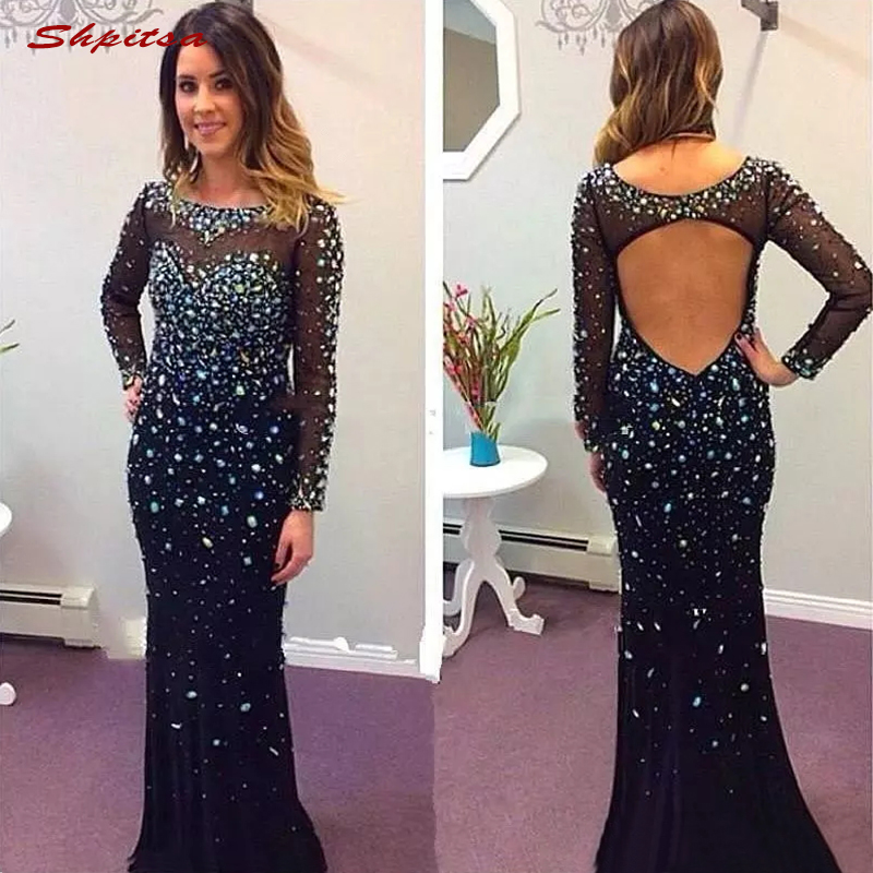 Long Sleeve Mother Of The Bride Dresses For Wedding Plus Size Evening Prom Groom Dinner Dresses 2018
