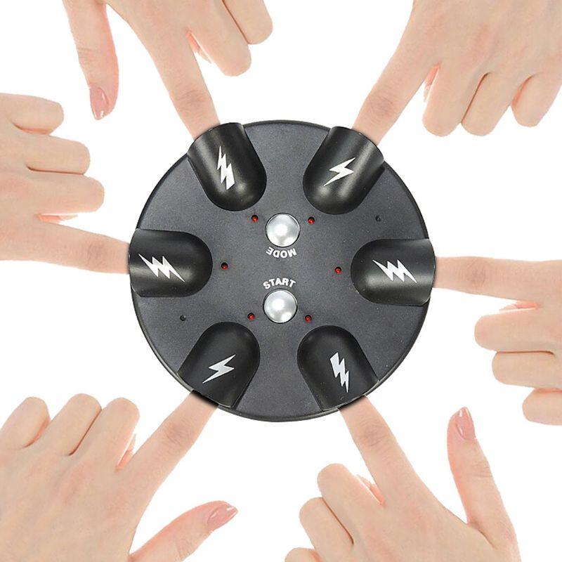 6 Slots Polígrafo Complicado Engraçado Adulto Micro Batimento Cardíaco Teste Shocking Lie Detector Mentiroso Choque Elétrico Novidade Jogo de Festa