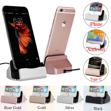 Mobile Phone Chargers For iPhone Android V8 Type-C Stand Aluminium Alloy Desk Holder Charging