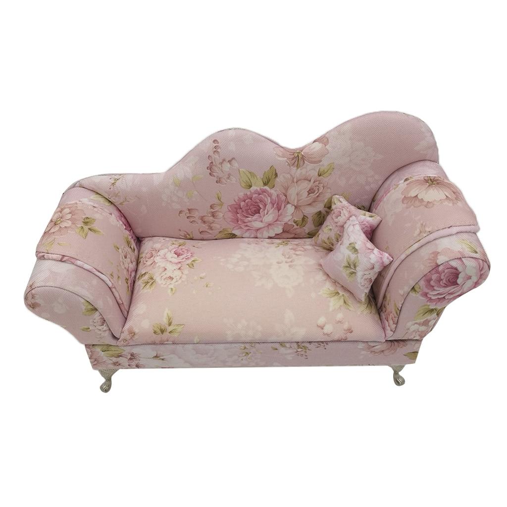Nieuwigheid Bloem Gedrukt Mini Sofa Meubels Sieraden Opbergdoos Geval Organisator Gift Vintage Victoriaanse Stijl Meubels Sieraden Doos