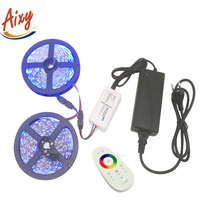 DC12V RGB 5050 LED Strip light 5M/roll 300Leds Flexible Led Light 60LED/m 5M 10M + 2.4G RGB LED Controller + Power adapter
