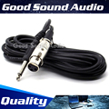 3m 3 Pin XLR Female to 6.5mm Plug Recording Studio Microphone Cable Mixer Audio Lead Male Jack Dynamic Mic Wire Cord Karaoke