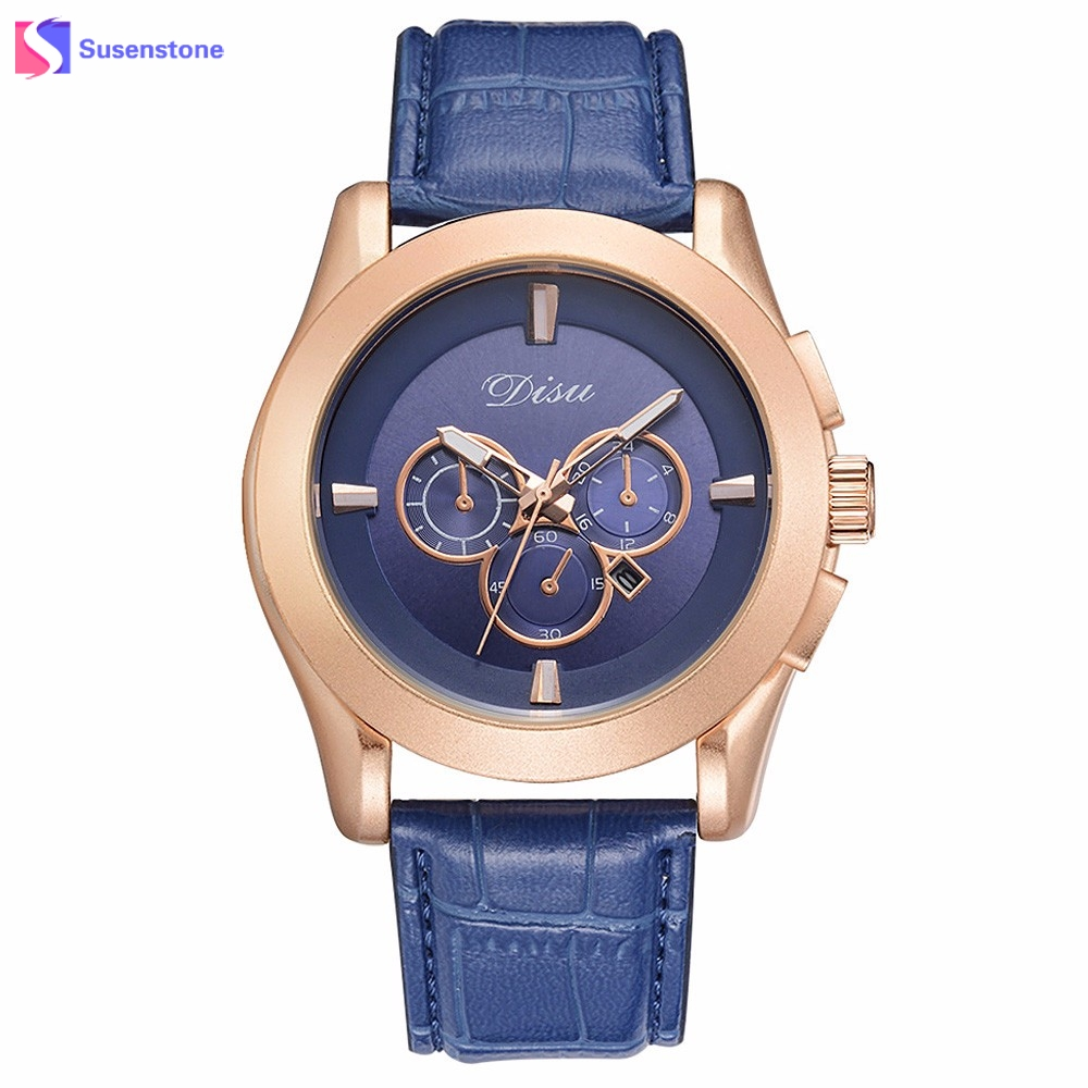 New Fashion Design Men Watch Analog Quartz Clock Calendar Date Wristwatch Luxury Leather Band Alloy Dial Man Dress Sport Watches large dial four movements men cool luxury analog leather wristwatch four dials display sport watch new