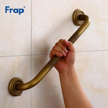 Frap Brass Bathroom Handrail Brushed Bathtub Handrail Safety Grab Bar The Old man Toilet Armrest Bathroom Accessories Y81054(China)
