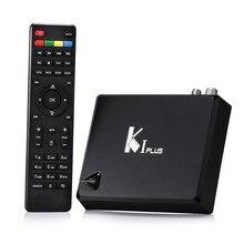 Android TV Box KI Más K1 Plus + T2 S2 smart tv S905 box Amlogic Quad Core bits 1 GB/8 GB Apoyo DVB-T2 Decodificador DVB-S2 caja