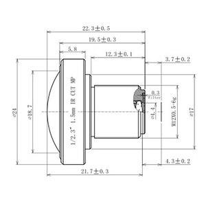 Image 5 - Объектив «рыбий глаз» 1/2, 3 дюйма, 1,5 мм, широкий угол обзора 180 градусов, крепление M12 F2.8 10 МП для GoPro Hero 4 3 Xiaomi Yi 4K Lite GitUp Git2 SJCAM SJ4000