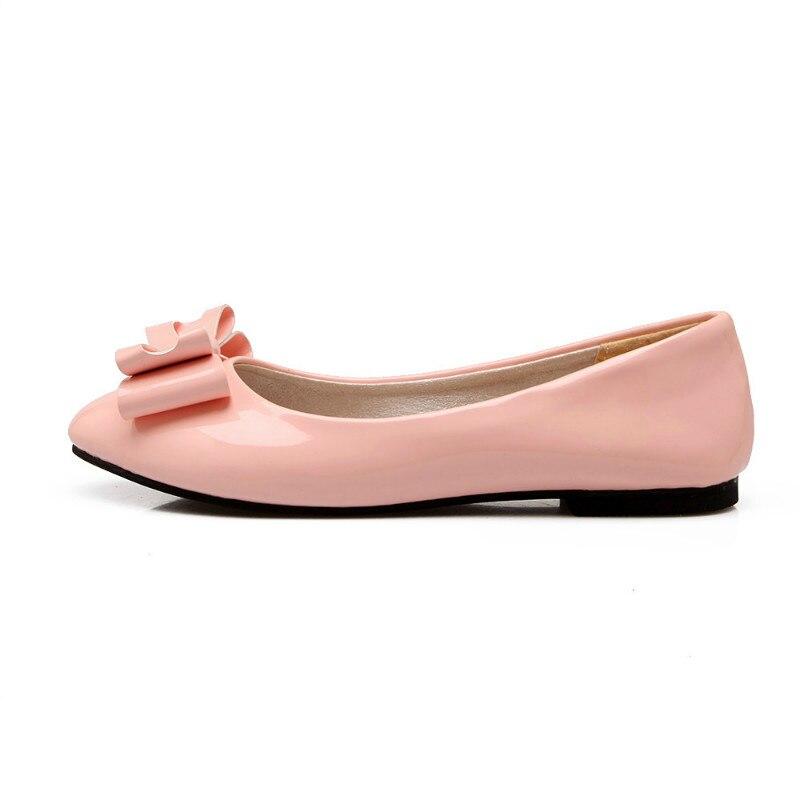 29b7f946 Muchacha Ballet Encantadora Mocasines Bowknot Más Para Pisos 48 La Alta  Suave Beige Del rosado Tamaño Zapatos ...