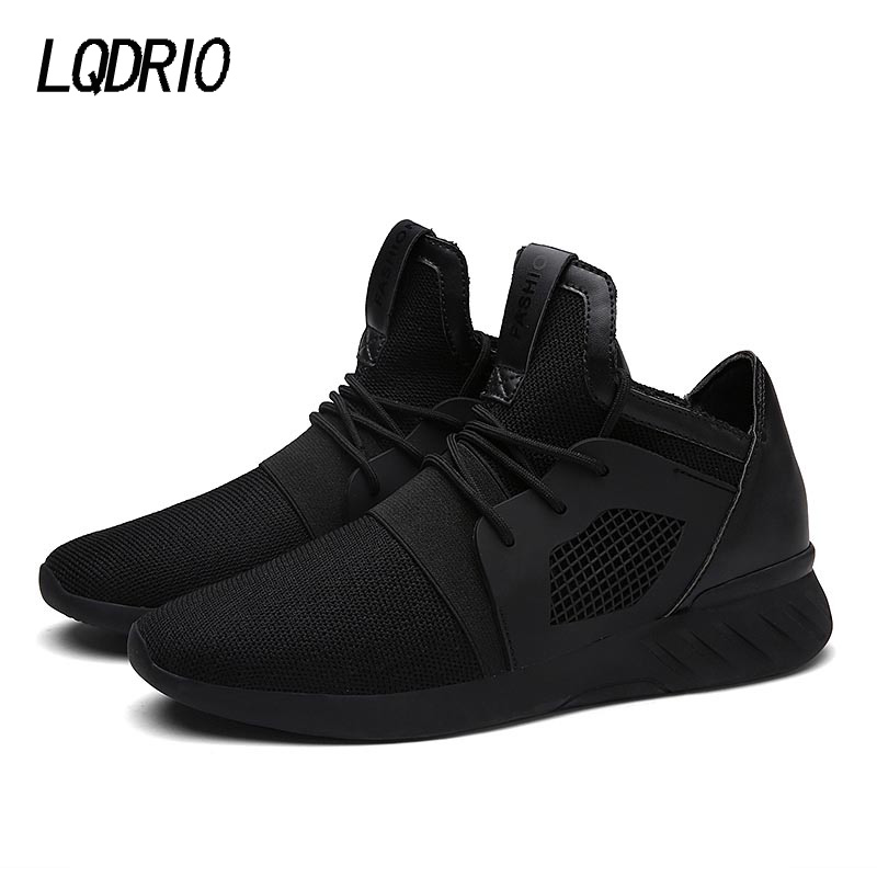 2017 Fashion Men s Shoes Flats Shoes Casual Soft Breathable Mesh Trainers Zapatillas Deportivas Spring Lace