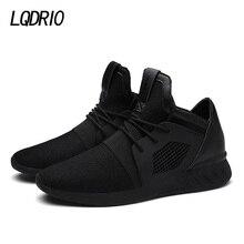 2017 hombres de la Manera Zapatos Planos Zapatos Casuales de Malla Transpirable Suave Zapatillas Deportivas Entrenadores cordones Resorte Sólido Negro